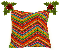 "Square 12"" 14"" PERUVIAN Cushion Cover, chevon t... - $29.95 - $32.95"