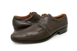 Gordon Rush Mens 10 Oxford Dress Shoes Brown Bicycle Toe Lace Up Low Top - $22.99