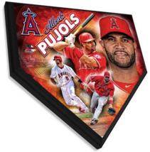 "Albert Pujols Anaheim Angels 11.5"" x 11.5"" Home Plate Plaque  - $40.95"