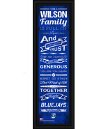"Personalized Creighton University ""Blue Jays""-24 x 8 ""Family Cheer"" Fram... - $39.95"