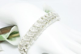 Sterling Silver 7.5 inch Fancy Woven Bracelet  - $75.00