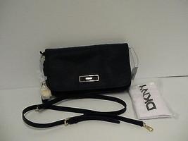 DKNY Donna Karan saffiano leather cross body bag ink color retail $225 - $128.65