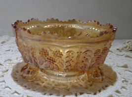 Fenton Carnival Glass Butterfly and Berry Pattern Depression Glass Orang... - $8.00