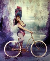 MARILYN MONROE PIN-UP SEXY VICTORIAN HAT RIDING A BICYCLE + TREE HUGGING... - $9.00