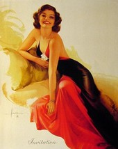"Rolf Armstrong 8""X10"" Pin Up Poster Sexy Invitation Photo Pinup Art Print! - $4.99"