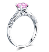 1.25 Carat Fancy Pink Lab Diamond Wedding Engagement Ring 925 Sterling S... - $109.99