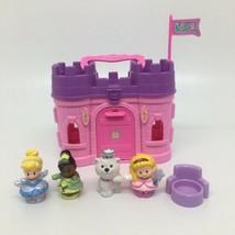 Fisher Price Little People Pink Castle Play n Go Case- Disney Cinderella... - $23.36