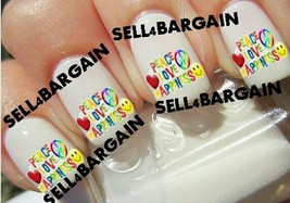 Star Quality《Peace, Love, Happiness》Tattoo Nail Art Decals《Non Toxic - $16.99
