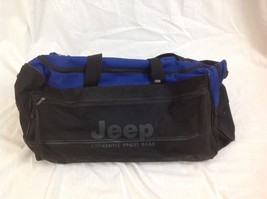 JEEP Authentic Sport Gear Large Roller Duffle Bag Black Jeep Travel Equi... - $128.69