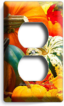 PUMPKINS SQUASH HARVEST OUTLET RECEPTACLE WALL PLATE COVER KITCHEN DININ... - $8.09