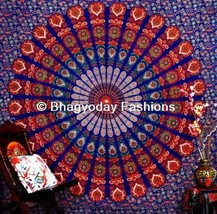 Queen Mandala Tapestry Indian Wall Hanging Throw Vintage Cotton Bedspread - $519,84 MXN