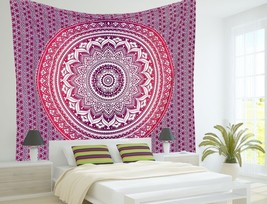 Indian Ombre Mandala Wall Hanging Dorm Decor Tapestries Boho Bedding Bed... - $19.62+