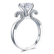 925 Sterling Silver Wedding Engagement Ring Vintage 2 Carat Man Made Lab... - $129.99