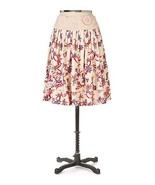 RARE NWT Viola Anthropologie Palmetto Embroidered Floral Eyelet Skirt 6 - $45.59
