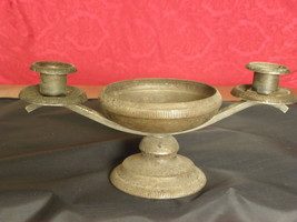 Antique Old Victorian Silver Plated Brass Cande... - $39.59