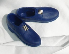 Blue shoes with painted  laces for Barbie boyfriend Ken fashionista doll - $6.99