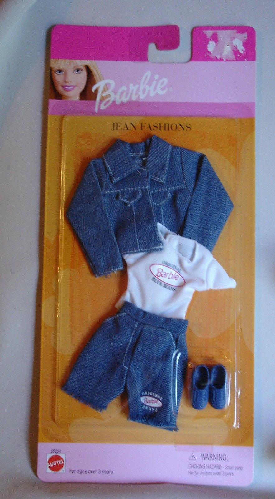 Original Barbie doll clothes Blue Jeans Fashions with jacket pants shorts NFRB - $40.99