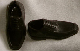 very dark BROWN shoes with factory backsplit for Ken doll by Mattel - $9.99