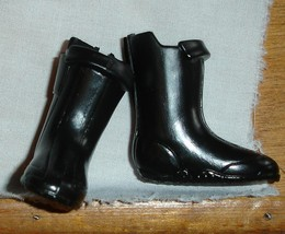 Ken doll accessories boots for vinyl feet black with a tinge of brown co... - $6.99