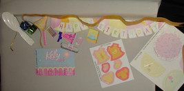 Happy Birthday paper accessories for Barbie family Kelly Tommy baby and ... - $7.98
