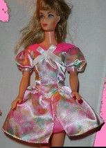 Barbie doll clothes pastel flower print dress for Easter - $7.99