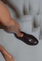 Medium BROWN shoes with factory backsplit for Barbie boyfriend Ken doll - $6.99