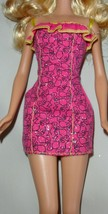 Barbie doll clothes ponytail profile Silhouette print dress - $10.99