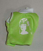 Janay doll clothes green and White face print top shirt also fits Barbie - $6.99