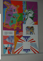 Patriotic All American paper accessories for Barbie  1990 map photo fram... - $8.99