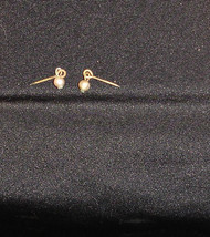 doll vintage earrings metal pin styl faux pearl  fits Barbie - $12.99