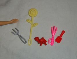 Gardening accessories for Barbie doll includes pet turtle and flower - $10.99