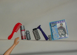 Ken doll accessory lot realistic spray can top razor shaver containers p... - $19.99