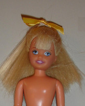Nude Stacie doll Barbie middle sister with yellow bow in hair classic ve... - $11.99