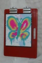 Barbie clipboard wth faux artist pad butterfly drawing - $6.99