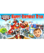 Transformers Rescue Bots -Personalized- Vinyl Birthday Banner Decoration... - $39.95