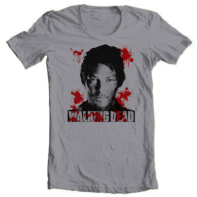 The Walking Dead Daryl Dixon T Shirt III Zombie horror 100% cotton graphic tee