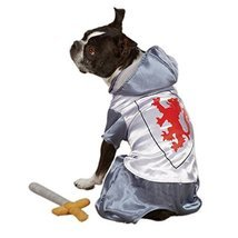 Zack & Zoey Polyester Knight Dog Costume, Small, Silver - $38.83