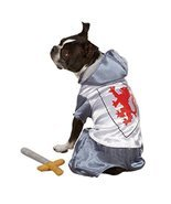 Zack & Zoey Polyester Knight Dog Costume, Small, Silver - £29.97 GBP