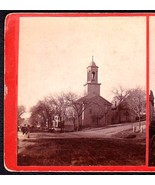 BANGOR MAINE 1870s PRIVATE LARGE PHOTO STEREOVIEW - First Baptist Church - $59.95