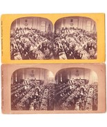 (2) NEWBURYPORT MA GRANGE OR CONVENTION STEREOVIEWS - Carl Meinerth - $50.00