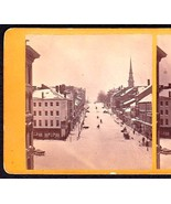 BANGOR MAINE 1870 PRIVATE PHOTO STEREOVIEW - Main Street Business District - $74.95