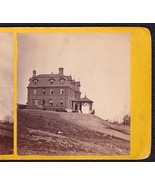 BANGOR MAINE 1870s PHOTO STEREOVIEW - Children's Home on Thomas Hill - $59.95