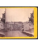 BANGOR MAINE 1870 PRIVATE PHOTO STEREOVIEW - Looking Down State Street Hill - $62.47