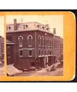BANGOR MAINE 1870s PRIVATE PHOTO STEREOVIEW - Mason's Hall - $89.95