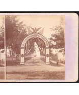BANGOR MAINE CENTENNIAL ARCH WAY 1769-1869 PHOTO STEREOVIEW #3 - $74.95