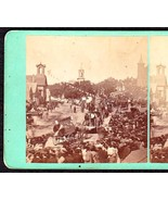 BANGOR MAINE CENTENNIAL PARADE 1769-1869 PHOTO STEREOVIEW #2 - $89.95
