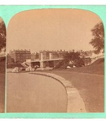 BOSTON, MA PARK BRIDGE BOAT - RARE! Photo Stereoview - $45.00