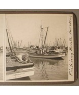 MONTEREY CALIFORNIA FISHING BOATS Real Photo Stereoview - $45.00