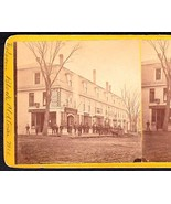 OLDTOWN MAINE 1870s PHOTO STEREOVIEW - Folsom Block Looking North #1 - $62.47