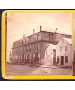OLDTOWN MAINE 1870s PHOTO STEREOVIEW - Ounegan Block Stores #2 - $89.95
